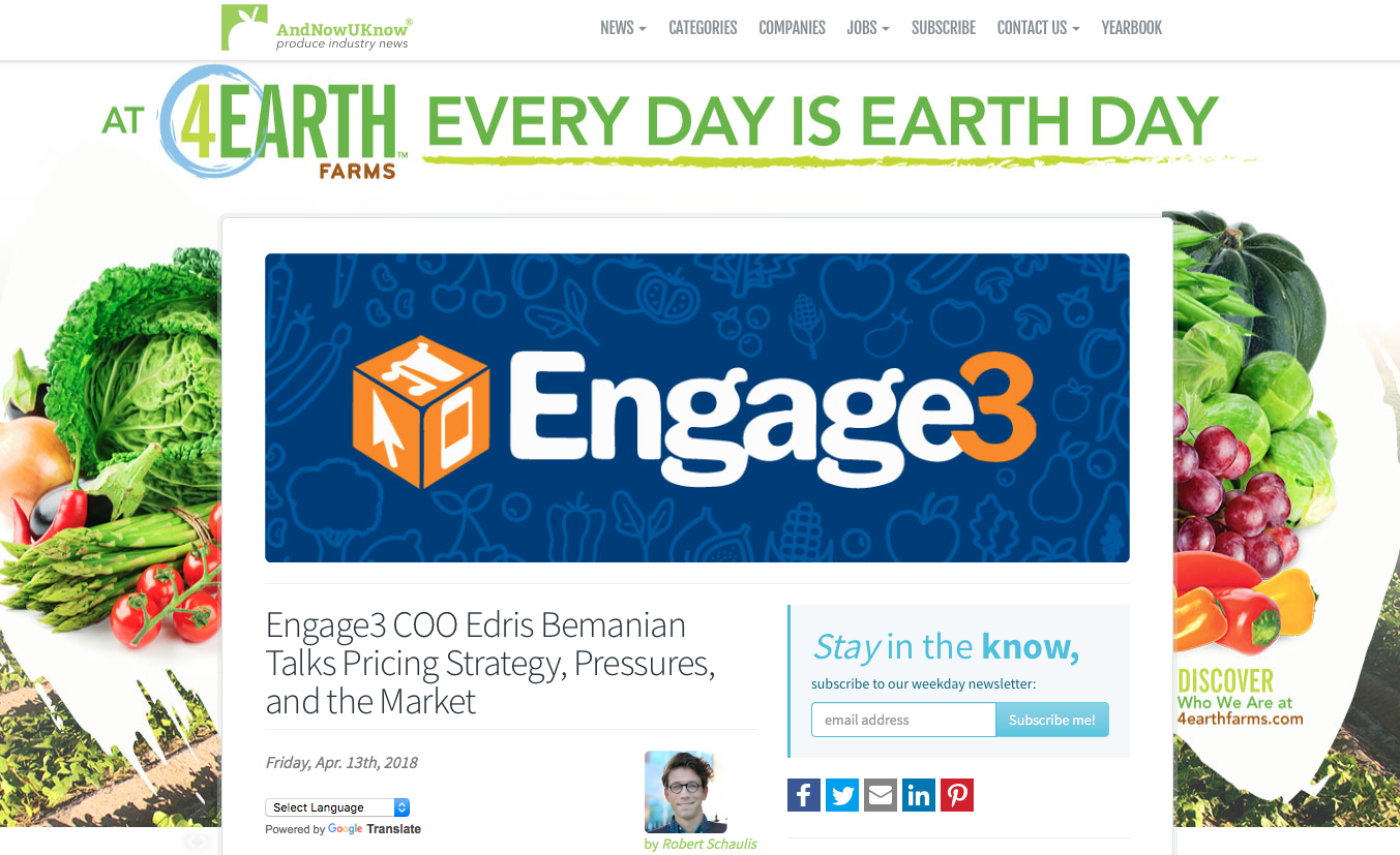 Engage3 COO Edris Bemanian Talks Pricing Strategy, Pressures, and the Market