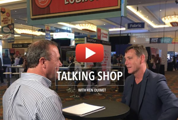 Engage3's Ken Ouimet at GroceryShop 2019 with Jon Springer, Winsight Grocery Executive Editor
